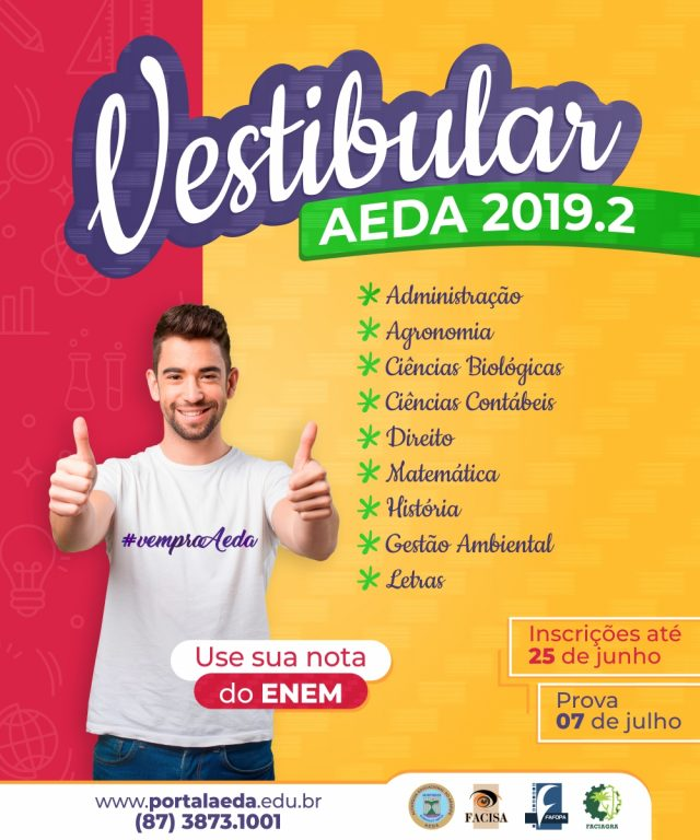 Vestibular 2019.2 – Resultado vestibular + ENEM