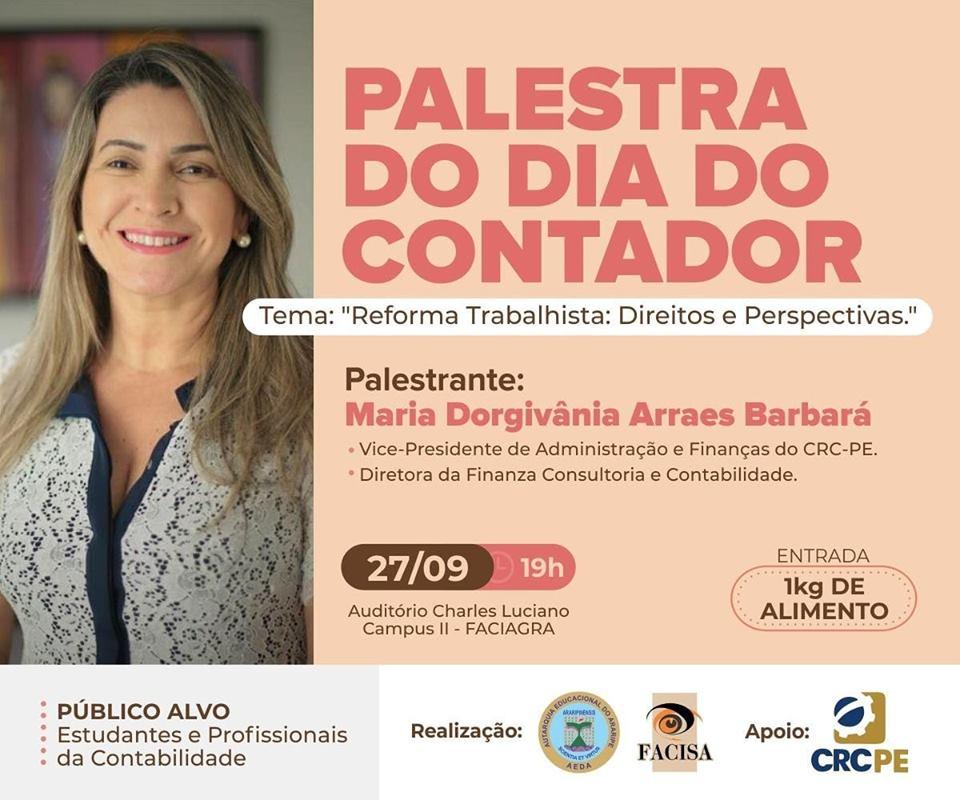 Facisa promoverá palestra em comemoração ao Dia do Contador