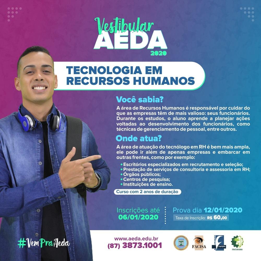 Conheça mais sobre Tecnologia em Recursos Humanos, o novo curso da Aeda