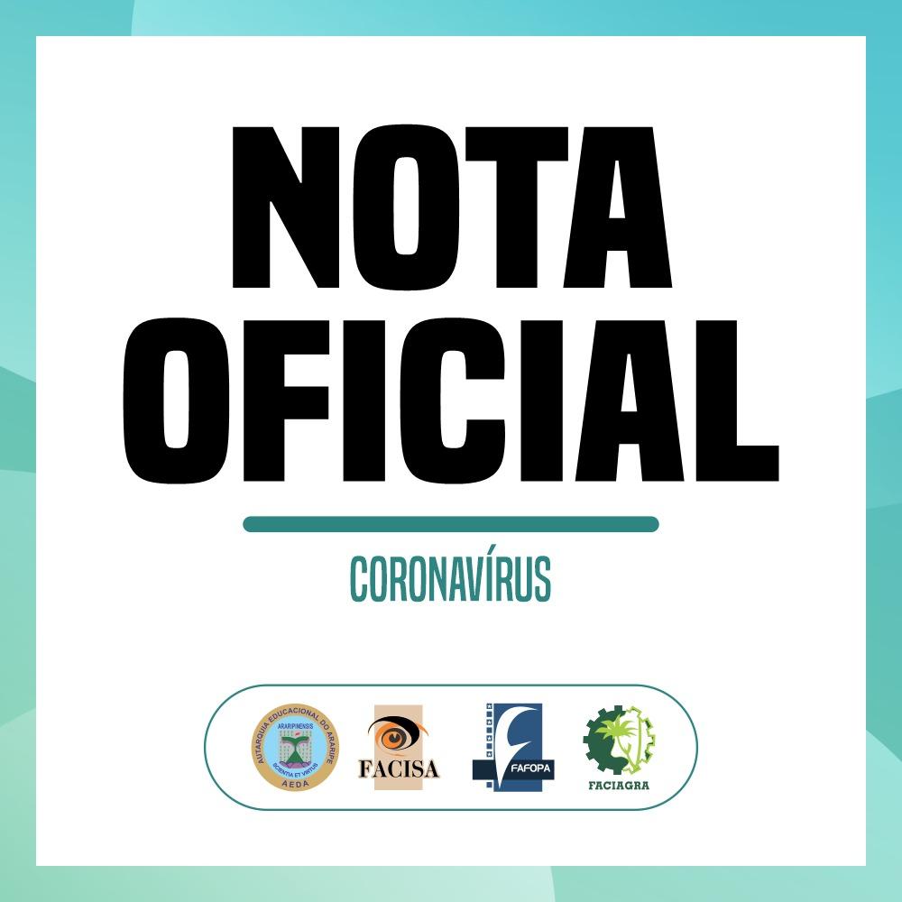 Nota Oficial da AEDA sobre o Coronavírus