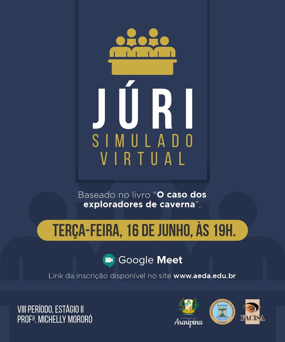 """Professora do curso de Direito realizará Júri Simulado Virtual baseado no livro """"O caso dos exploradores de caverna"""""""