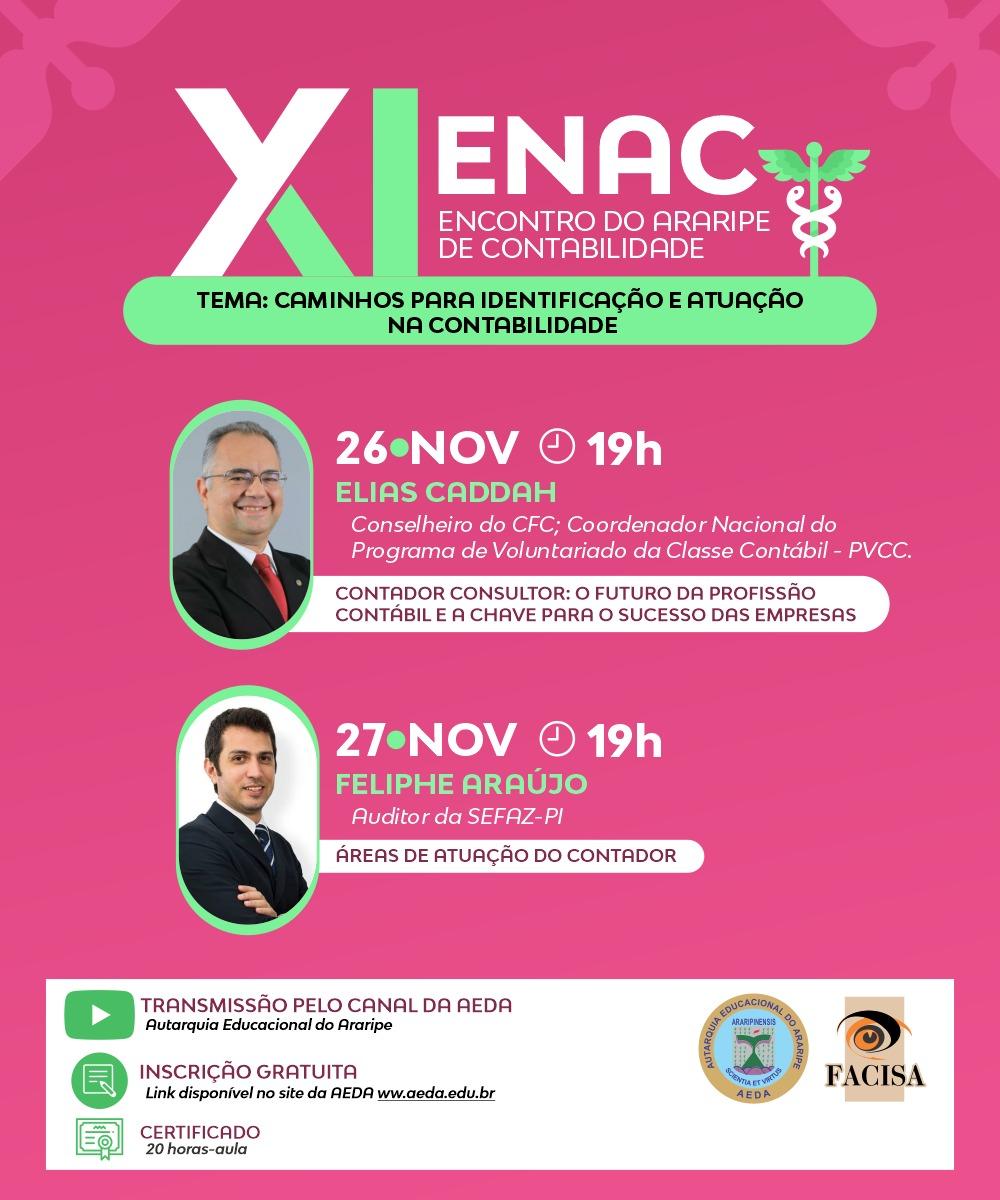 XI Encontro do Araripe de Contabilidade acontecerá nos dias 26 e 27 de novembro de forma on-line