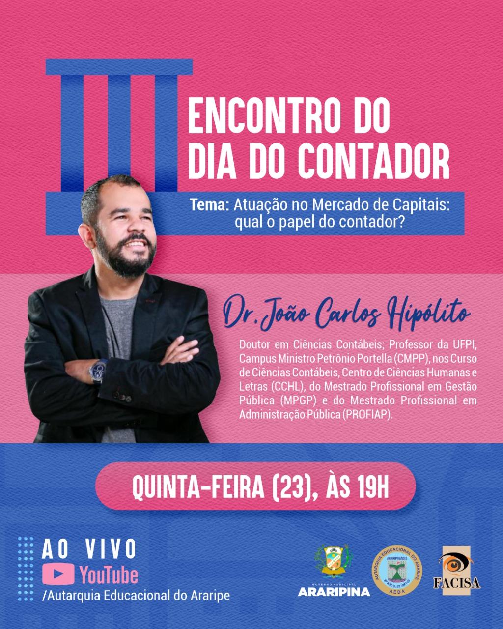 Curso de Ciências Contábeis da FACISA promoverá palestra em alusão ao dia do contador